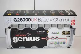 BOXED NOCO GENIUS G26000 UK BATTERY CHARGER 26A 12V & 24V RRP £195.00Condition ReportAppraisal