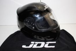 UNBOXED JDC MOTORCYCLE HELMET ECE APPROVED 59-60CM SIZE LARGE RRP £34.99Condition ReportAppraisal