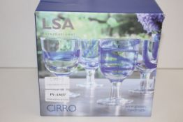 BOXED LSA INTERNATIONAL CIRRO 4 WINE GLASSES HANDMADE RRP £43.00Condition ReportAppraisal