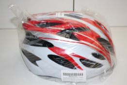 UNBOXED RED WHITE BICYCLE HELMET Condition ReportAppraisal Available on Request- All Items are