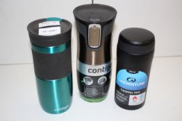 3X ASSORTED THERMAL MUGS BY CONTIGO & LIFEVENTURE COMBINED RRP £43.54Condition ReportAppraisal