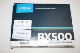 BOXED CRUCIAL BX500 2.5INCH SOLID STATE DRIVE 1000GB RRP £28.00Condition ReportAppraisal Available