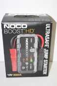 BOXED NOCO BOOST HD GB70 ULTRASAFE JUMP STARTER 12V 2000A RRP £169.00Condition ReportAppraisal