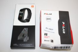 2X BOXED ITEMS TO INCLUDE POLAR H10 HEART RATE SENSOR & MI SMART BAND 4Condition ReportAppraisal