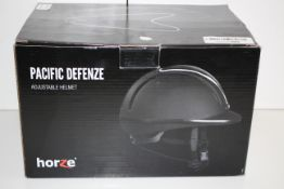 BOXED HORZE PACIFIC DEFENZE ADJUSTABLE HELMET RRP £48.13Condition ReportAppraisal Available on