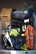 1 LOT TO CONTAIN LUGGAGE PADLOCKS, BASKETBALL, SPORTS BOTTLE, FIRST AID BLANKET, BANDAGES, KNEE PADS