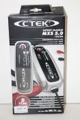 BOXED CTEK BATTERY CHARGER MXS 5.0 12V/5A RRP £103.73Condition ReportAppraisal Available on Request-