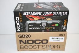BOXED NOCO BOOST SPORT GB20 ULTRASAFE JUMP STARTER 12V 500A RRP £95.16Condition ReportAppraisal