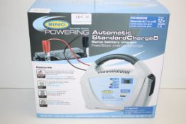 BOXED RING POWERING AUTOMATIC STANDARD CHARGE 8 8AMP BATTERY CHARGER RRP £45.00Condition
