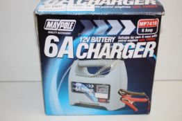 BOXED MAYPOLE 6A 12V BATTERY CHARGER MODEL: MP7416 RRP £24.99Condition ReportAppraisal Available