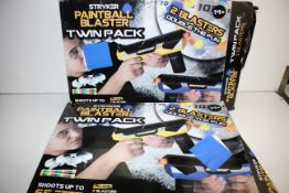 X 2 BOXED STRYKER TWIN PACK BLASTERS Condition ReportAppraisal Available on Request- All Items are