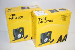 2X BOXED AA TYRE INFLATORS AA5007 COMBINED RRP £28.00Condition ReportAppraisal Available on Request-