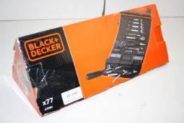 BOXED BLACK + DECKER X77 PIECE TOOL SET A7063 RRP £52.25Condition ReportAppraisal Available on