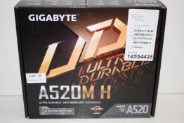 BOXED GIGABYTE A520M H ULTRA DURABLE MOTHERBOARD AMD RRP £59.00Condition ReportAppraisal Available