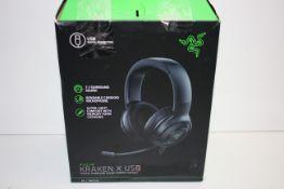 BOXED RAZER KRAKEN X USB DIGITAL SURROUND SOUND GAMING HEADSET RRP £59.99Condition ReportAppraisal