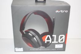 BOXED ASTRO MULTI PLATFORM GAMING HEADSET A10 RRP £59.99Condition ReportAppraisal Available on