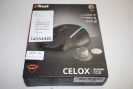 BOXED TRUST CELOX PC LAPTOP RGB MOUSE RRP £44.99Condition ReportAppraisal Available on Request-