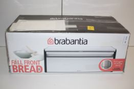 BOXED BRABANTIA FALL FRONT BREAD BIN RRP £27.99Condition ReportAppraisal Available on Request- All