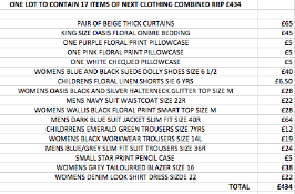 ONE LOT TO CONTAIN 17 ITEMS OF NEXT CLOTHING COMBINED RRP £434 (1049)Condition ReportALL ITEMS ARE