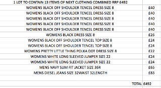 1 LOT TO CONTAIN 13 ITEMS OF NEXT CLOTHING COMBINED RRP £492 (1031)Condition ReportALL ITEMS ARE