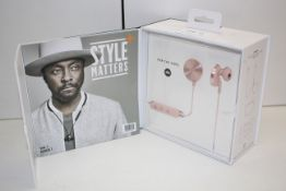 BOXED I.AM+ BUTTONS BLUETOOTH EARPHONES FOR THE DOPE RRP £169.99Condition ReportAppraisal
