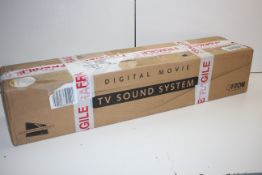 BOXED CANTON DM5 BLACK GLASS DIGITAL MOVIE TV SOUND SYSTEM RRP £331.04Condition ReportAppraisal