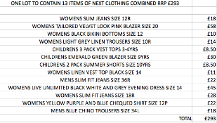 ONE LOT TO CONTAIN 13 ITEMS OF NEXT CLOTHING COMBINED RRP £293 (1044)Condition ReportALL ITEMS ARE