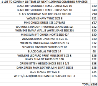 1 LOT TO CONTAIN 18 ITEMS OF NEXT CLOTHING COMBINED RRP £505 (1028)Condition ReportALL ITEMS ARE