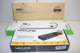 3X BOXED ASSORTED ITEMS TO INCLUDE BELKIN, ARTECK & WAVLINKCondition ReportAppraisal Available on