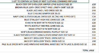 1 LOT TO CONTAIN 14 ITEMS OF NEXT CLOTHING COMBINED RRP £416 (1027)Condition ReportALL ITEMS ARE