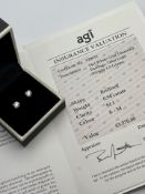 ***£3570.00*** 14CT WHITE GOLD LADIES DIAMOND SOLITAIRE EARRINGS, DIAMOND WEIGHT- 0.94CT, CLARITY-