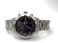 GENTS TAG HEUER STAINLESS STEEL WATCH, CHRONOMETER AUTOMATIC