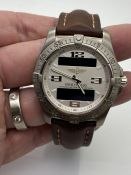 GENTS BREITLING CHRONOMETRE AEROSPACE, MODEL- E79362, REQUIRES BATTERY, WATCH ONLY