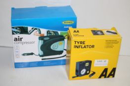 2X BOXED ASSORTED TYRE INFLATORS BY RING & AA COMBINED RRP £54.99Condition ReportAppraisal Available