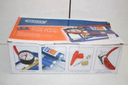 BOXED DRAPER DOUBLE CYLINDER FOOT PUMP STOCK NO.25996 RRP £14.99Condition ReportAppraisal