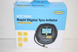 BOXED RING RTC1000 RAPID DIGITAL TYRE INFLATOR 12V DC RRP £43.52Condition ReportAppraisal