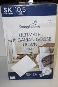 BOXED SNUGGLEDOWN ULTIMATE HUNGARIAN GOOSE DOWN DUVET 10.5TOG SUPER KINGSIZE RRP £324.99Condition