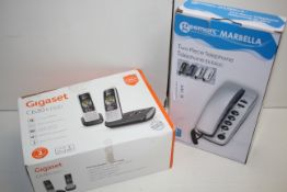 2X BOXED ASSORTED PHONES TO INCLUDE GIGASET C630 A DUO & GEEMARC MARBELLACondition ReportAppraisal