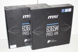 2X BOXED MSI INTEL MOTHERBOARD B365M PRO-VH CHIPSET B365 COMBINED RRP £170.98Condition
