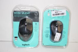 2X BOXED ASSORTED LOGITECH MOUSE FOR COMPUTER Condition ReportAppraisal Available on Request- All