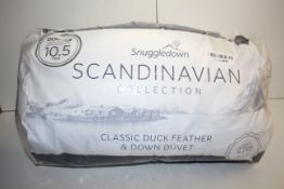 BAGGED SNUGGLEDOWN SCANDINAVIAN COLLECTION CLASSIC DUCK FEATHER & DOWN DUVET DOUBLE 10.5TOG RRP £