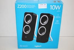 BOXED LOGITECH Z200 RICH STEREO SOUND 10W COMPUTER SPEAKERS RRP £26.00Condition ReportAppraisal