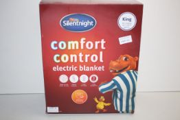 BOXED SILENTNIGHT COMFORT CONTROL ELECTRIC BLANKET KING RRP £44.95Condition ReportAppraisal