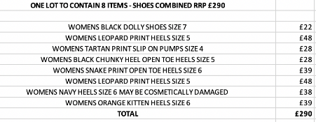 ONE LOT TO CONTAIN 8 ITEMS - SHOES COMBINED RRP £290 (1068)Condition ReportALL ITEMS ARE BRAND NEW