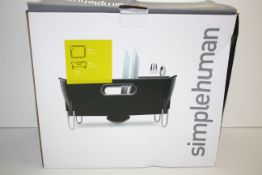 BOXED SIMPLEHUMAN BLACK COMPACT DISHRACK RRP £29.99Condition ReportAppraisal Available on Request-