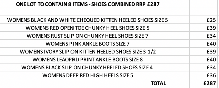 ONE LOT TO CONTAIN 8 ITEMS - SHOES COMBINED RRP £287 (1067)Condition ReportALL ITEMS ARE BRAND NEW