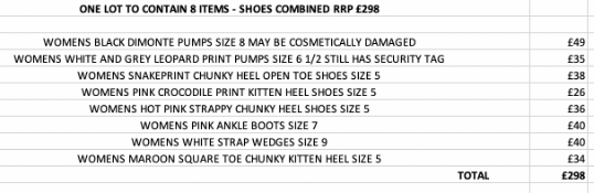 ONE LOT TO CONTAIN 8 ITEMS - SHOES COMBINED RRP £298 (1066)Condition ReportALL ITEMS ARE BRAND NEW