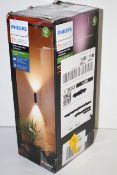 BOXED PHILIPS HUE PERSONAL WIRELESS LIGHTING WHITE AND COLOR AMBIANCE OUTDOOR WALL LIGHT APPEAR
