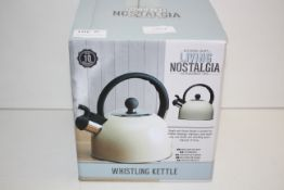 BOXED KITCHEN CRAFT LIVING NOSTALGIA WHISTLING KETTLE RRP £21.99Condition ReportAppraisal