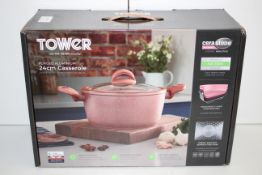 BOXED TOWER FORGED ALLUMINIUM 24CM CASSEROLE CERAMIC NON-STICK RRP£24.99Condition ReportAppraisal